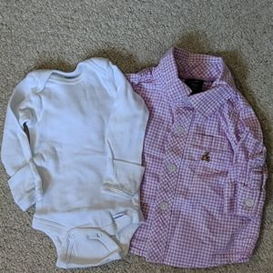 Baby Gap 0-3m button down shirt bundle